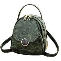 Womens Small Backpack Purse Cute 3-IN-1 Daypacks Leather Mini Travel Backpack Teen Girls