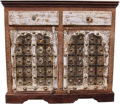 Amazon De Oriental Galerie Sideboard Kommode Schrank Tv Board Flurschrank Massiv Indien 100 Cm Breit