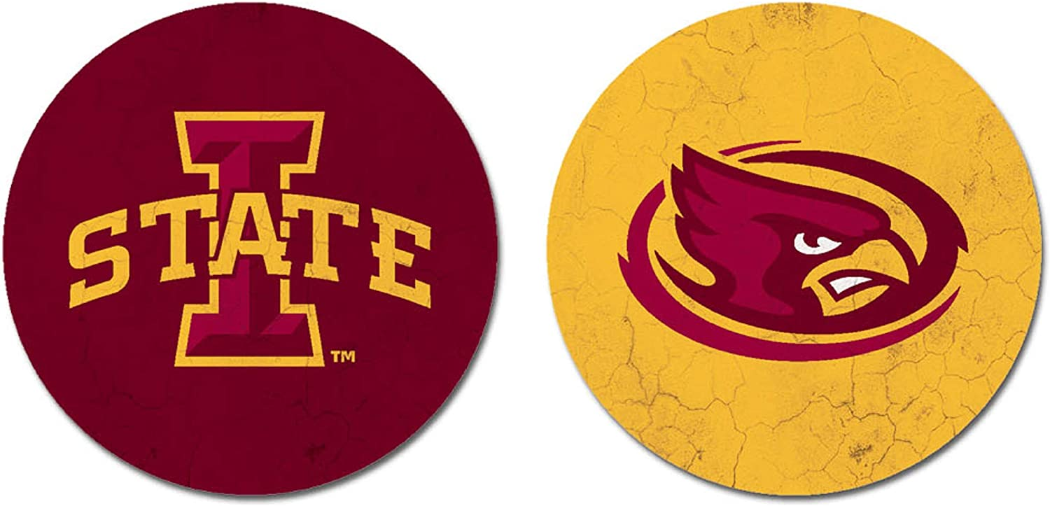 Sandstone One Size NCAA Legacy Iowa State Cyclones Thirsty Car Coaster 2-Pack