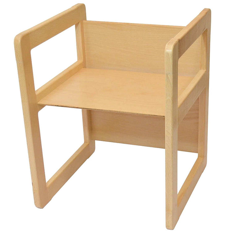 Due Sedie Multifunzionali O Tavolini E Una Sedia Multifunzionale O Tavolo Oppure Tris Di Tavolini Da Caff/è In Faggio Lacca Chiaro Set Mobili Multifunzionali 3 In 1 Set 3 pezzi
