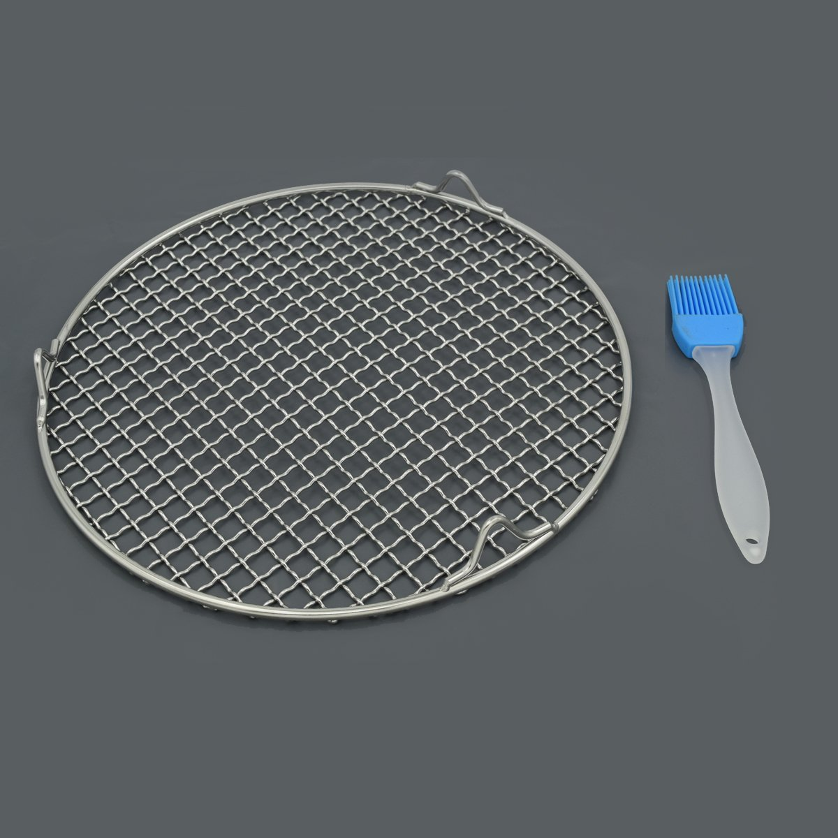 Fivebop Multi-Purpose Stainless Steel Cross Wire Round Steaming Cooling Barbecue Racks/Carbon Baking Net/Grills/Pan Grate with 3 Legs (11 inches) by Fivebop (Image #7)