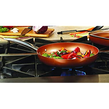 Copper Chef 12  Round Pan with Lid