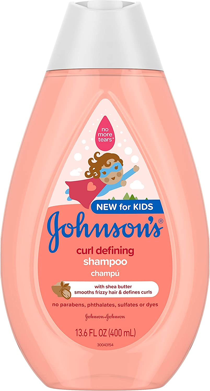 Johnson's Curl-Defining Tear-Free Kids' Shampoo with Shea Butter, 13.6 Fl. Oz