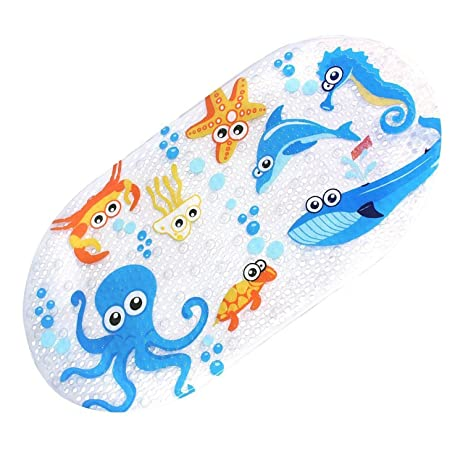 Non Slip Baby Bath Mat   Mocollmax Toddler Anti Bacterial Bathtub Mat,  Shower