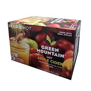 GREEN MOUNTAIN Hot Apple Cider K-Cup, 12 Count (Pack of 1) net wt 9.2 ounce
