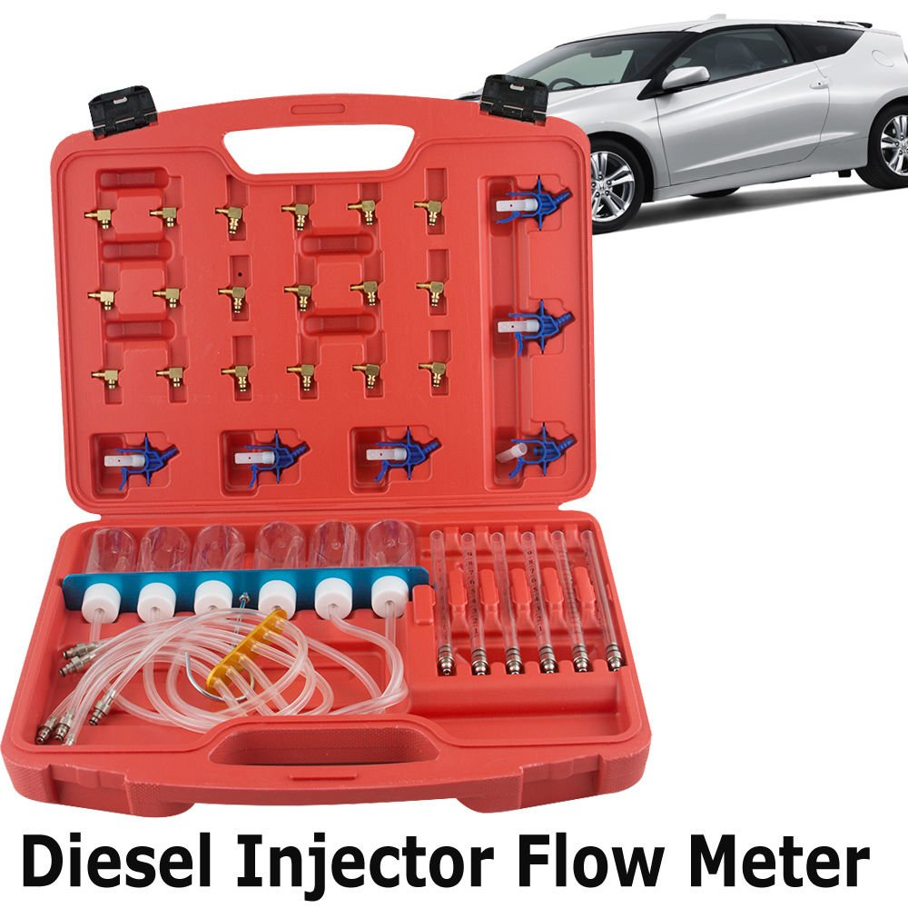Zinnor Diesel Injector Flow Diagnostic Cylinder Common Rail Adaptor Test Tool Kit Meter set Fuel Pressure Testers