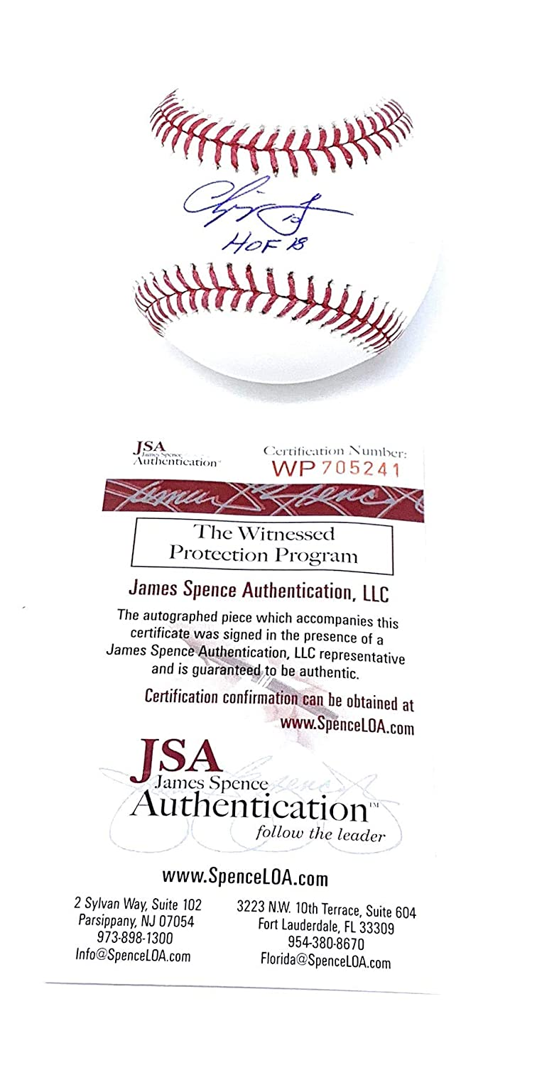 Chipper Jones Atlanta Braves Signed Autograph Official MLB Baseball HOF Inscribed JSA Witnessed Certified