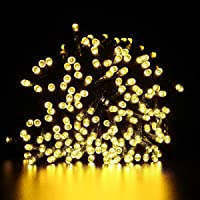 LED Fairy Lights String Warm White - 50 Meters 500 LEDs Lights Strand Solar Powered Outdoor Indoor, 50m Waterproof Solar…