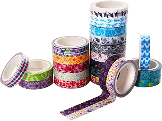 DECO Roll Washi Tape Sticky Paper Masking Adhesive Craft Colorful Bricolage