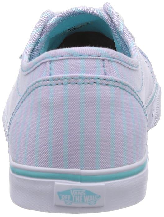 Vans ROWAN, Baskets pour femme, Multicolore Mehrfarbig ((Stripes) blue FM8), 42.5