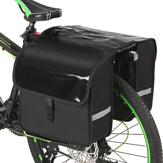 1X Fahrrad Tasche Rennrad Ruecksitz Regen Abdeckung Gepaeck Wasserdichte TaM5K3