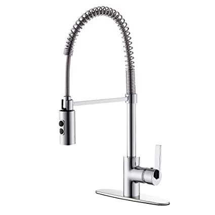 Polished Br Kitchen Faucets | Timearrow Taf852r Cp Modern Commercial Chrome Pull Down Sprayer