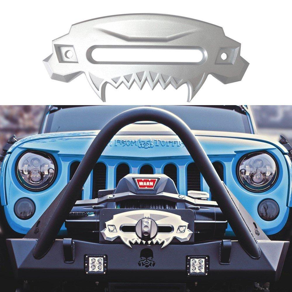 SXMA Universal Beast Paraurti anteriore Alluminio 4x4 Hawse Fairlead Winch sintetico SXMA HL071