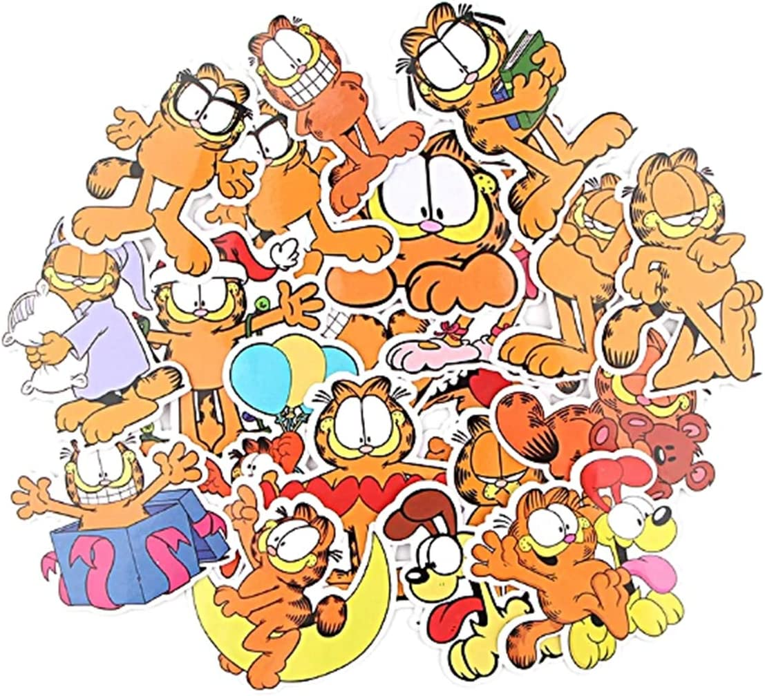EC Trading Garfield Themed Set of 20 Cartoon Stickers