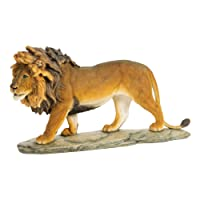 DDIW Prowling Lion figurine statua ornamento Brown Gift 27cm