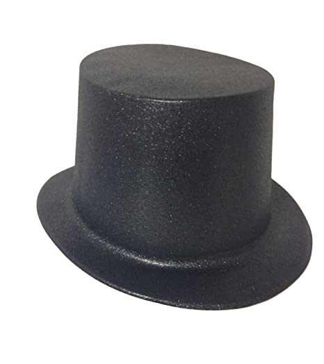 8909d1ee188 Amazon.com   Black Glitter Top Hat for Adults Lot of 12 Hats   Office  Products