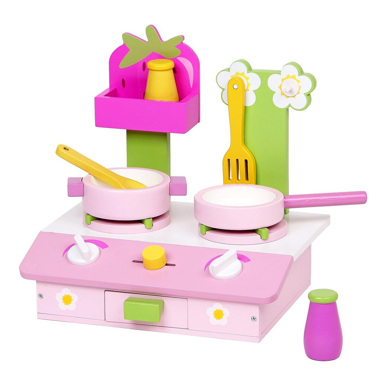 mentari mini stove wooden play kitchen set toys games