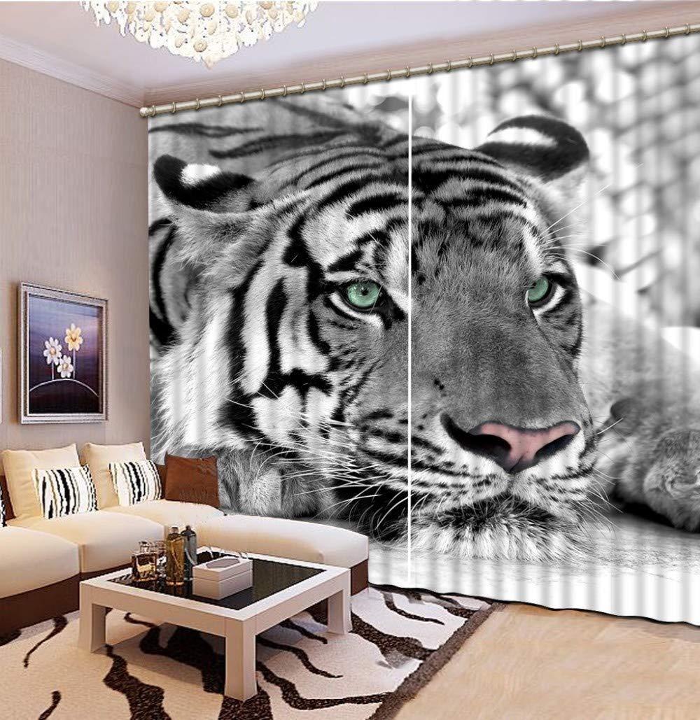 FaceToWind Black and White Tiger 3D Blackout Fenster Vorhänge Für Wohnzimmer Kinder Schlafzimmer Vorhänge Cortina Rideaux Kundengebundene Größe W200cmxH210cm
