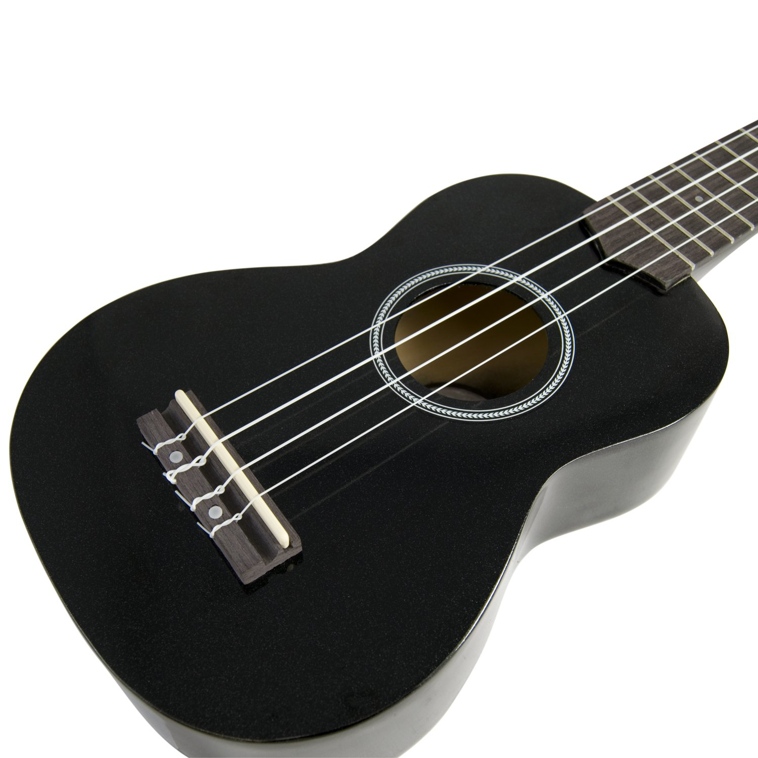 tiger beginner soprano ukulele and bag black