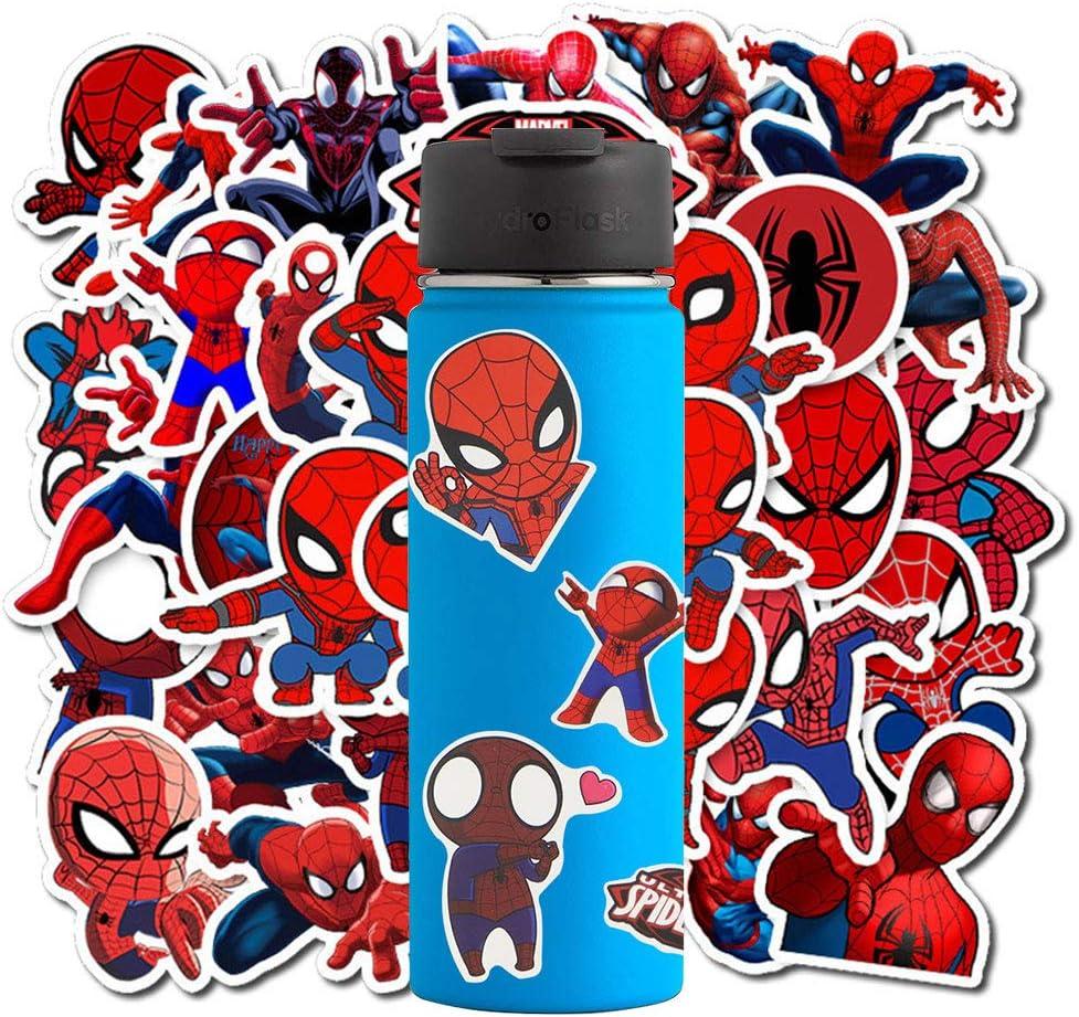 ZesNice Vcso Spiderman Stickers for Teens (70Pcs), Superhero Stickers for Kids, Superman Stickers for Bike, Laptop, Window, Wall, Water Bottles, Suitcase, Guitar, Skateboard, Camera, Piano