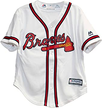 timeless design 03d6e 8f7bd Majestic Kid's MLB Atlanta Braves White/Red Baseball Jersey