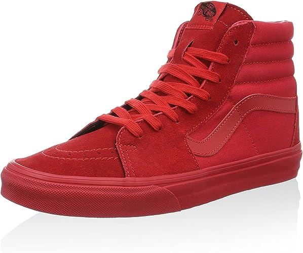 Vans Sk8-hi, Baskets Hautes Homme, Rouge (Red Vts9hew), 36 ...