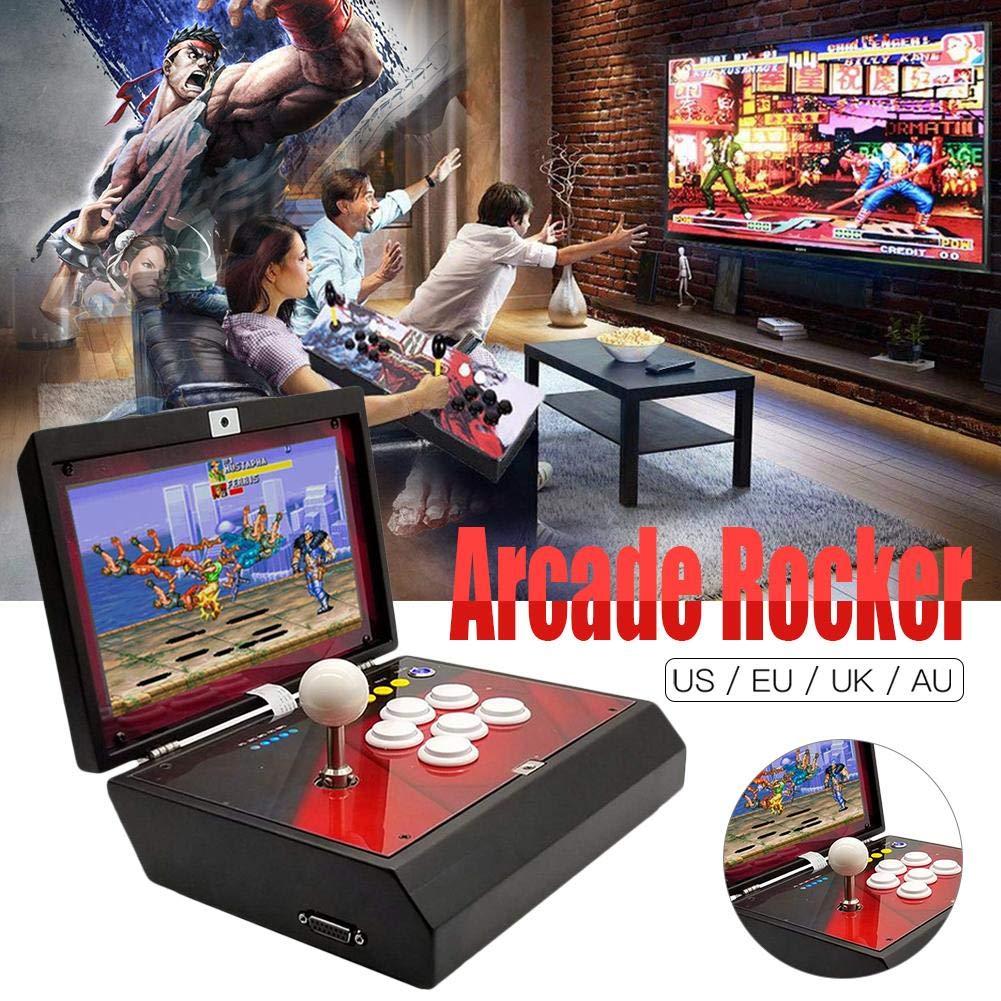 Bulary Retro Mini-Arcade-Maschine mit 1388 Classic Video HD-Spielen 10-Zoll-LCD-Bildschirm Tragbarer, faltender Moonlight Box 6S-Heim-Arcade-Spiel-Spieler mit Aufhängung in Einer Maschine