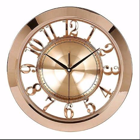 WERLM Diseño personalizado decorativos para el hogar reloj de pared Reloj art hotel mute salón reloj ...