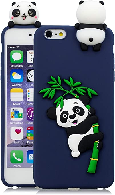3C Collection Cover iPhone 6 Plus Silicone Panda, Cover iPhone 6S Plus Silicone Panda, Cover 3D Animali in Silicone Morbido per iPhone 6 Plus e iPhone ...