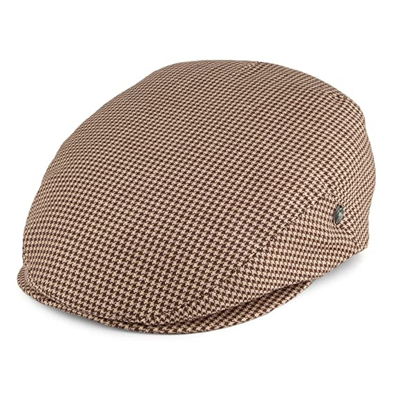 City Sport Houndstooth Flat Cap - Brown-Tan LARGE  Amazon.co.uk ... a694156fe3f