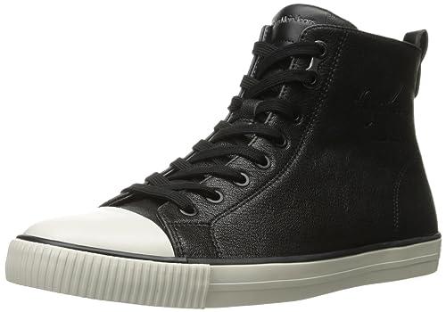 Calvin Klein Jeans - Zapatillas de Piel para Hombre, Color Negro, Talla 40: Amazon.es: Zapatos y complementos