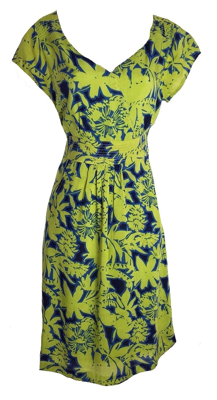 79200cc7a81 Ex White Stuff Ladies Palm print Lena dress Lime or Coral Tea Sun sizes  8-18: Amazon.co.uk: Clothing