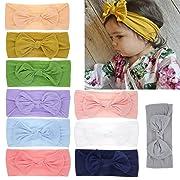 Nylon Newborn Headbands Baby Girl Bow Headband Infant Bows Head Cap Hair Band (Multicolor-LYC666)