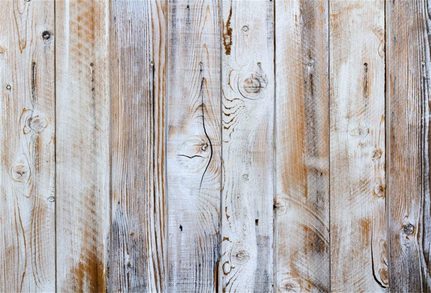Polyester 10x6.5ft Grunge Peeled White Lateral-Cut Wood Plank Photography Background Rustic Weathered Wooden Board Backdrop Children Adult Pets Artistic Portrait Shoot Studio Props