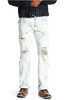 33595d5e2 True Religion Men s Straight Leg Relaxed Fit Midnight Stitch Jeans w Flaps  in Gloomy Cloud