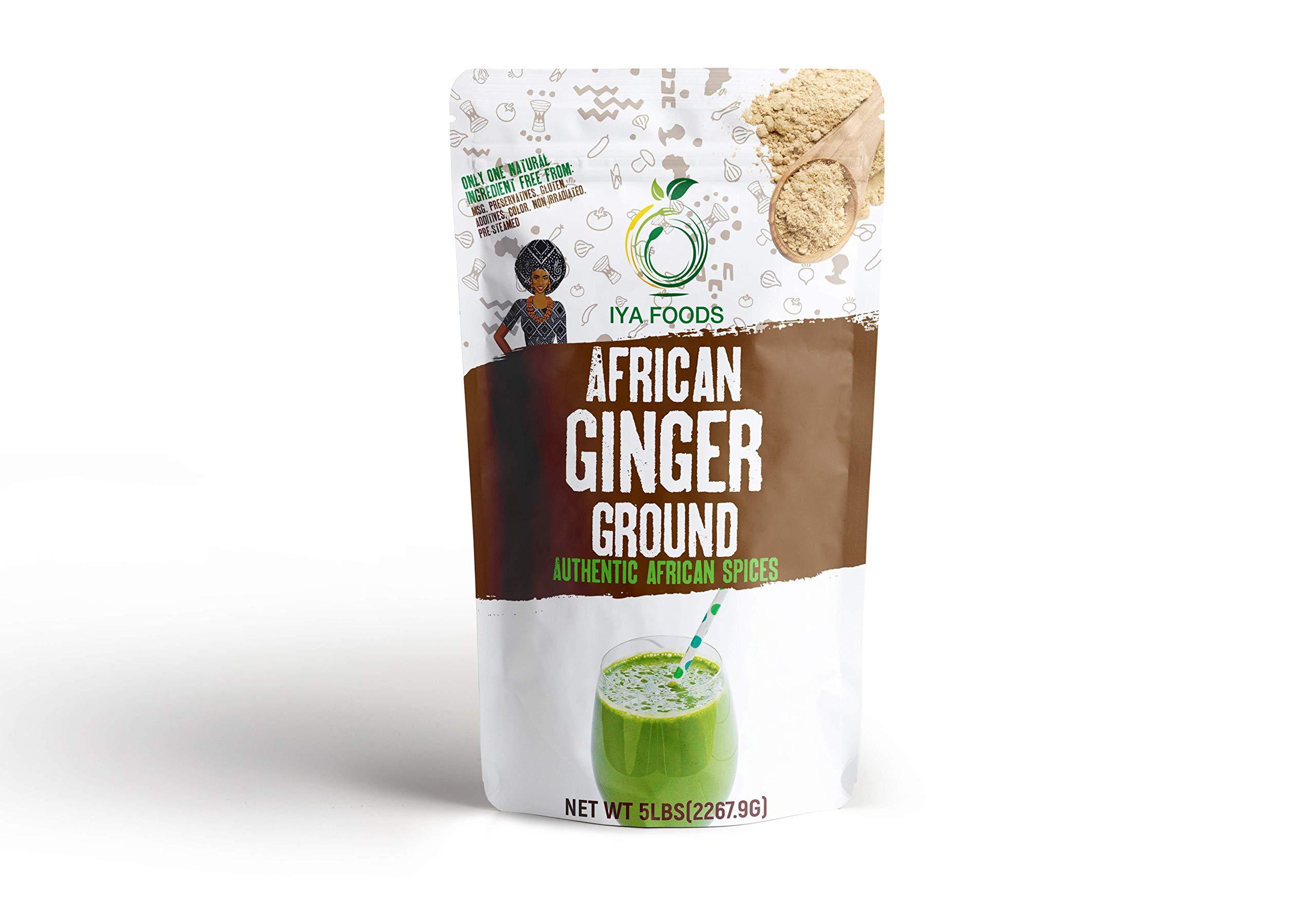 Iya Foods Ginger Ground 5 Lbs, Kosher Certified, No Preservatives, No Added Color, No Additives, No MSG