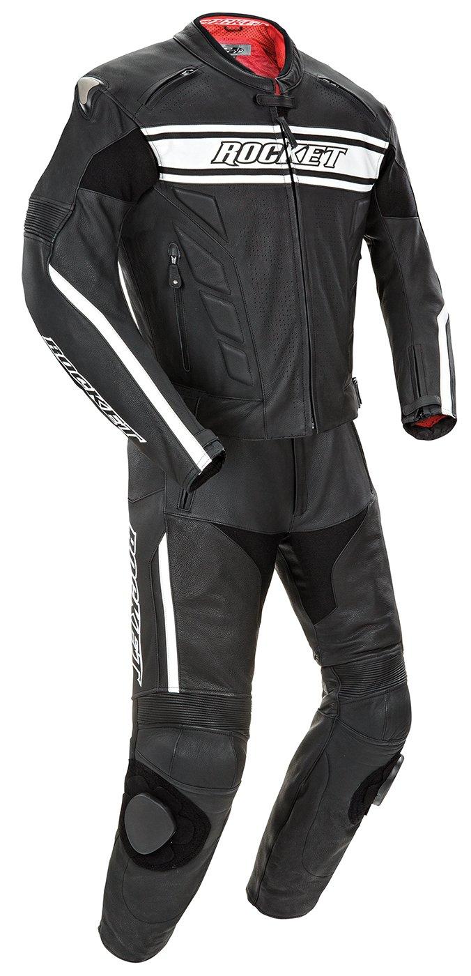 Joe Rocket 'Blaster X' Black/White Two Piece Race Suit - 46 by Joe Rocket