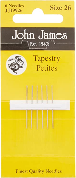 """Colonial English /""""Petites/"""" Tapestry Needle Set for Needlepoint ~ Size 22"""