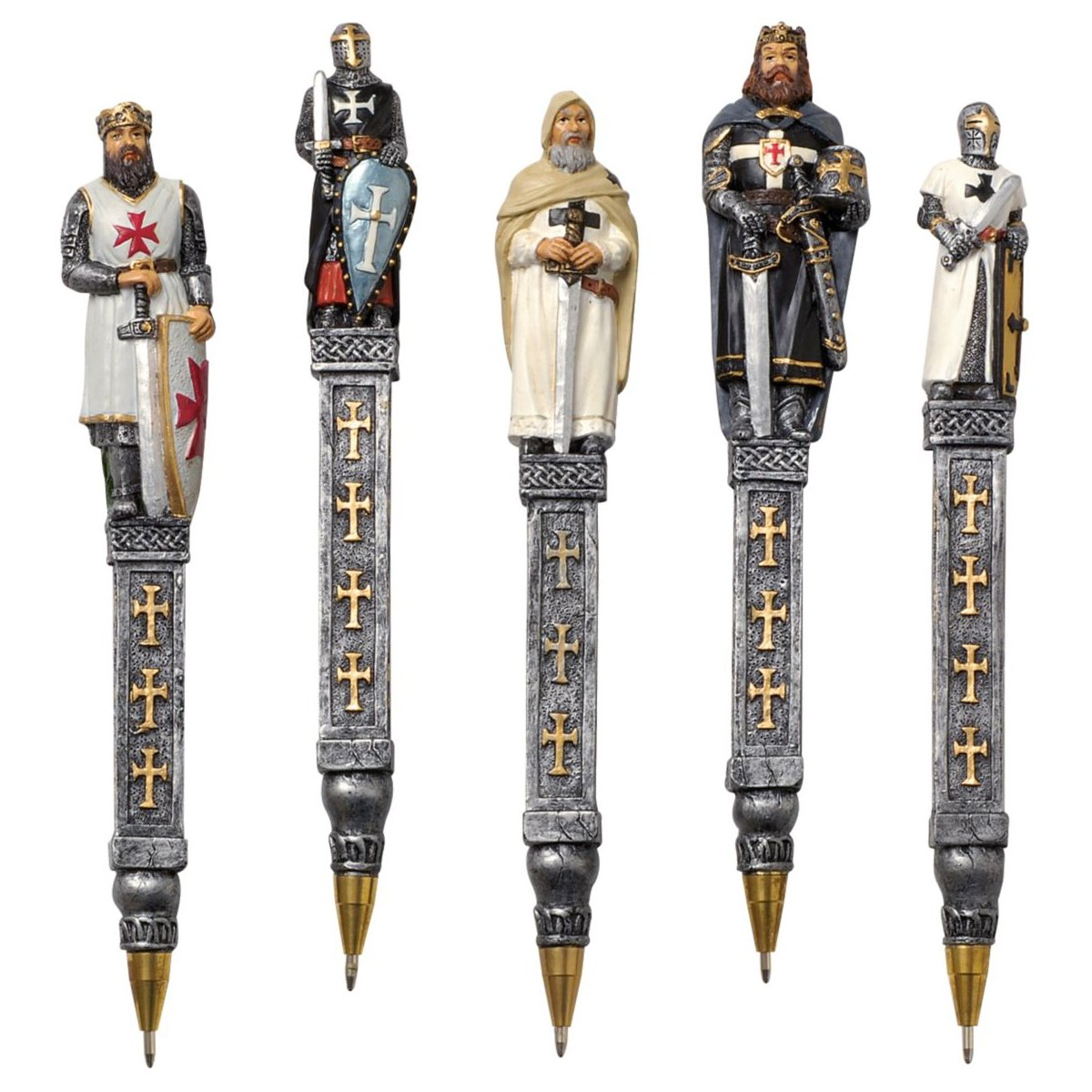 Design Toscano Medieval Templar Knights Pen Collection