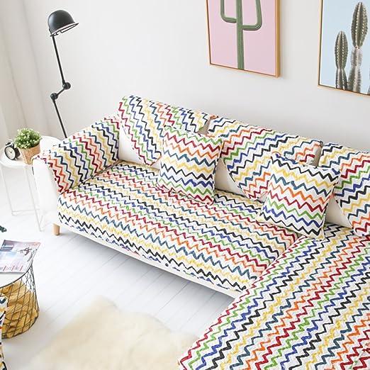 XDDAXYY Cojín para sofá algodón fantasía Colorida,Algodón ...