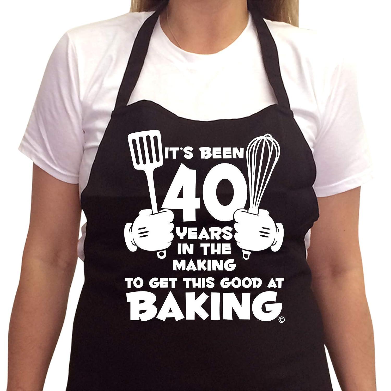 40th regalo de cumpleaños delantal de la mujer se de 40 años ...