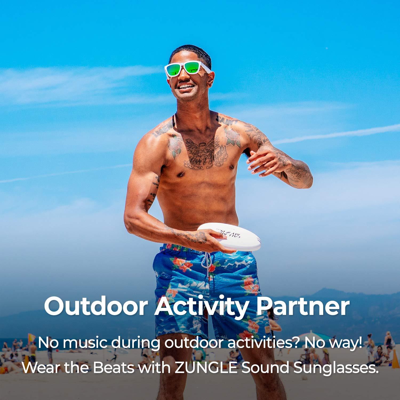 ZUNGLE V2 : Viper, Sunglasses with Open Ear True Wireless Bone Conduction Bluetooth 5.0 Headphones, for Men, Built-in Mic, Music, Phone Call, AI Assistance (Matte Gray)