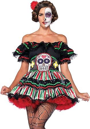 Generique - Disfraz Día de los Muertos Mujer S/M: Amazon.es ...