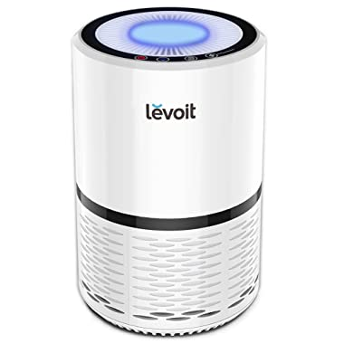 LEVOIT Air Purifier for Home Smokers Allergies and Pets Hair, True HEPA Filter, Quiet in Bedroom,Filtration System Cleaner Remover Eliminators, Odor Smoke Dust Mold, Night Light, 2-Yr Warranty,LV-H132