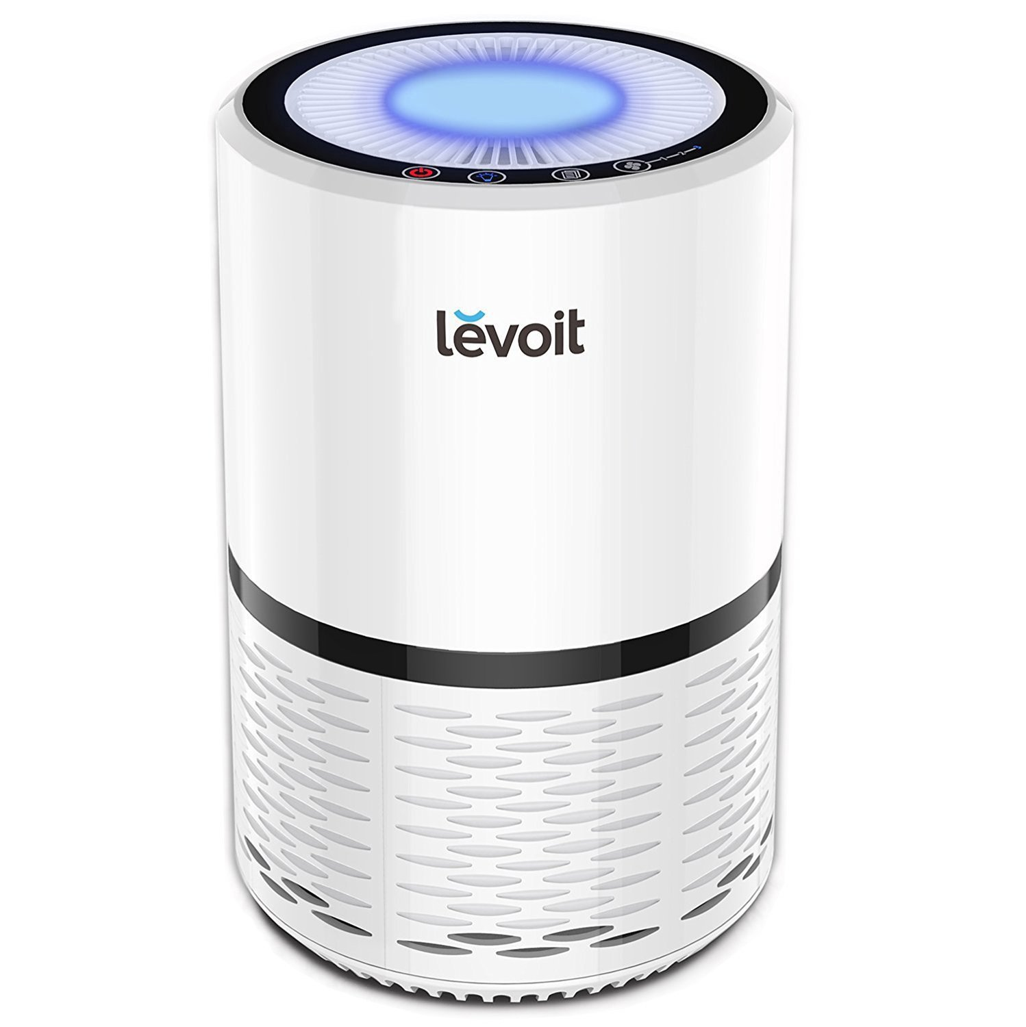 LEVOIT LV-H132 Air Purifier with True Hepa Filter, Odor Allergies Eliminator for Smokers, Smoke, Dust, Mold, Home and Pets, Air Cleaner with Night Light, US-120V, White by LEVOIT
