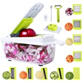 Early iris Vegetable Chopper Food Chopper Onion Chopper Vegetable Cutter Mandoline Slicer Dicer Grater Peeler w/Large…