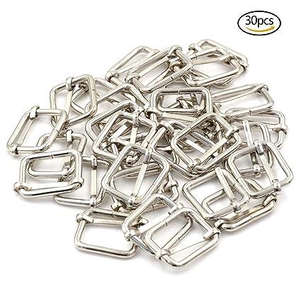 Lot de 30 Boucles d Ajustement Métalliques Rectangulaires pour Tringles  pour Fabriquer des Sacs à 7c8fab43165