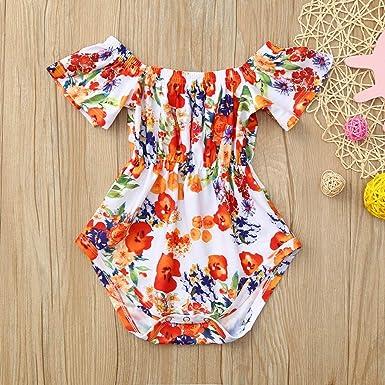 Womola 2PCS Fashion Toddler Kids Baby Girl Clothes Outfit Floral Dress Jumpsuit Romper Pants Set
