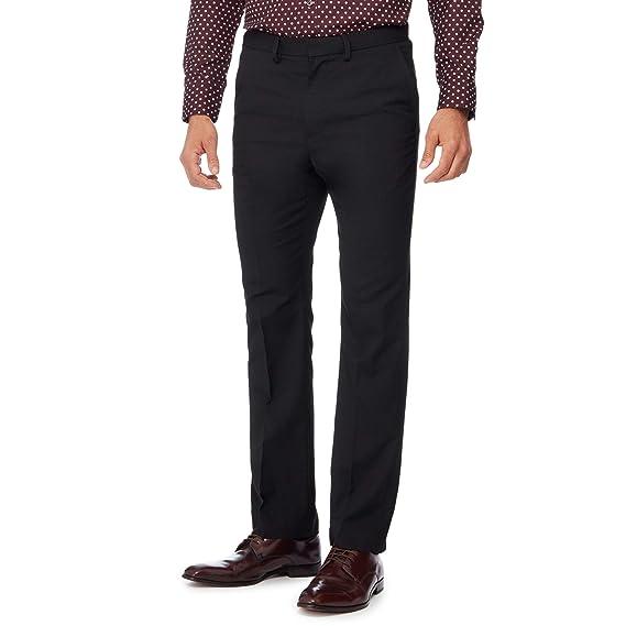 entire collection unique design best quality Debenhams The Collection Men Black Flat Front Tailored Fit ...