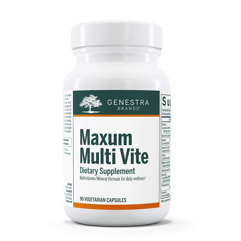 Genestra Brands - Maxum Multi Vite - Multi Vitamin Mineral Formulation with Rutin, CoQ10 and Green Tea Extract - 90 Capsules